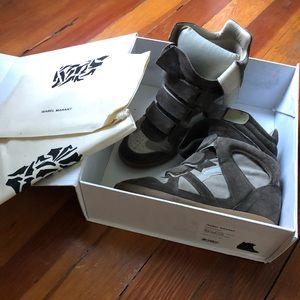 ISABEL MARANT wedge sneaker SIZE 7.5